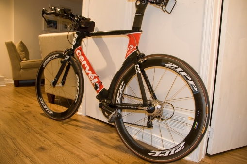 Cervelo with Zipp 404 and Powertap